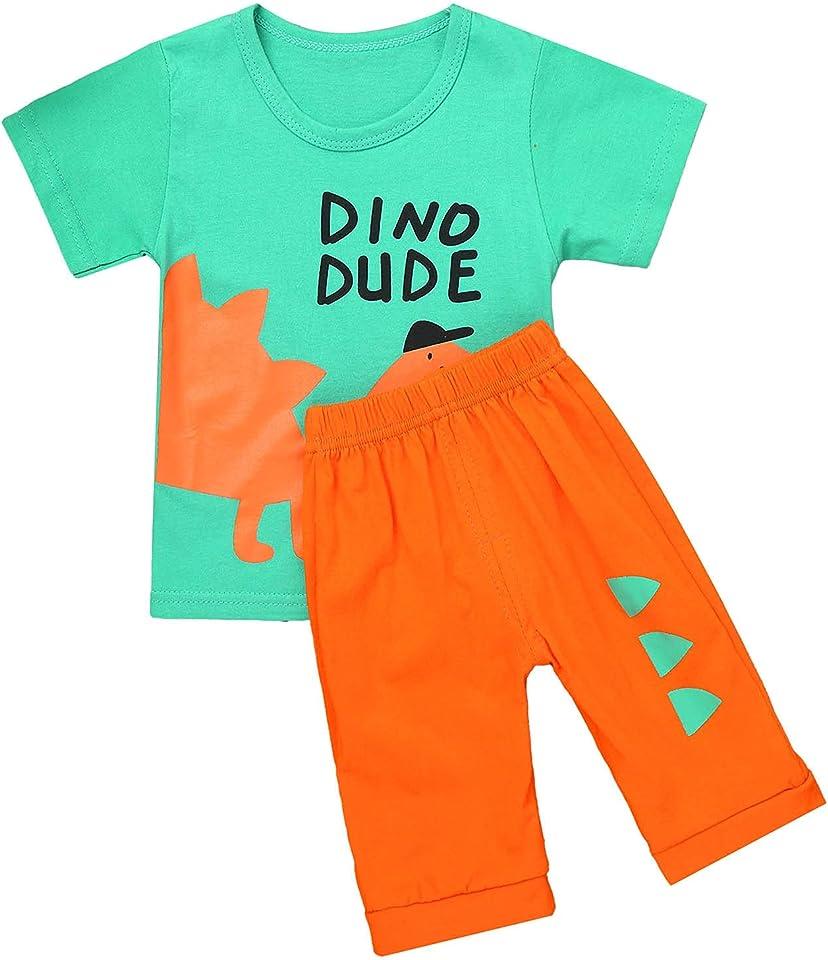 Kleinkind Baby Jungen Mädchen Outfits Sommer Kleidung Sets Cartoon Druck T-Shirt Unterhemd Tank Tops und Short Kurze Hosen Set Baumwolle