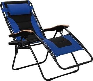 PHI VILLA Oversize XL Padded Zero Gravity Lounge Chair Wider Armrest Adjustable Recliner..