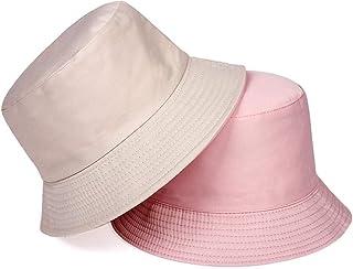 Gorro pescador Sombrero de pescador Tablero de luz Algodón Puro Sombrero de cubo usable de Doble cara Hombres Mujeres Ocio...