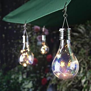 SHJNHAN Solar LED Light Waterproof Rotatable Outdoor Garden Camping Hanging Lamp Bulb (A)