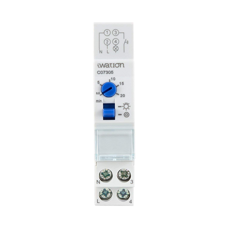 LEDKIA LIGHTING Reloj de Escalera 30 segundos-20 minutos, Man/Aut Blanco: Amazon.es: Bricolaje y herramientas