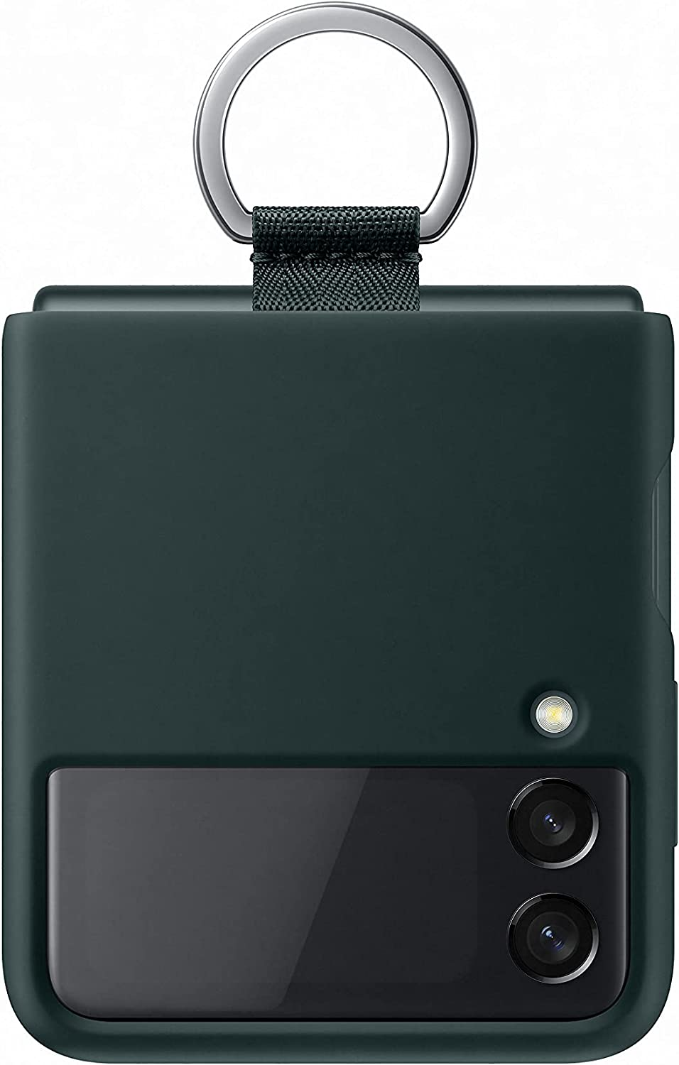 Samsung Galaxy Z Flip3 Silicone Cover with Ring - Official Samsung Case - Green