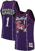 G-III Sports Men's #1 Tracy McGrady Raptors Hardwood Throwback Purple Jersey