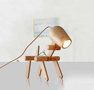 Einfache kreative Holz Persönlichkeit Geschenk Tischlampe Massivholz Massivholz Massivholz Studie Schlafzimmer Nachttischlampe Dekoration Kinder Welpe Tischlampe, geeignet für Studie, Schlafzimmer, Schlafsaal B07GCKHD1D  Starke Hitze- und HitzeBesteändigkeit 0513ef