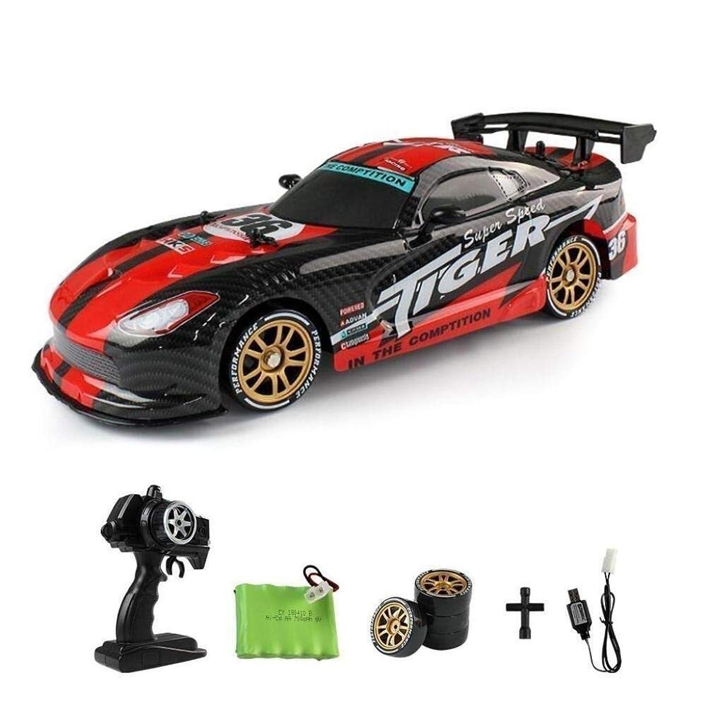活性化する会話アクセルカーモデル、4WDクローラ360°回転スタントドリフトカー、おもちゃ全地形トラックのオフロード車、午前1時16リモートコントロールレーシングカー、10.6in * 4.7in * 3.9in(カラー:レッド)