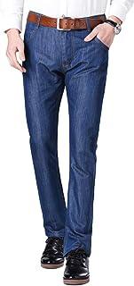 YUNCLOS メンズ ジーンズ ジーパン デニム カジュアル ロングパンツ スリム 細身 美脚 無地 シンプル 日常 オールシーズン メンズファッション