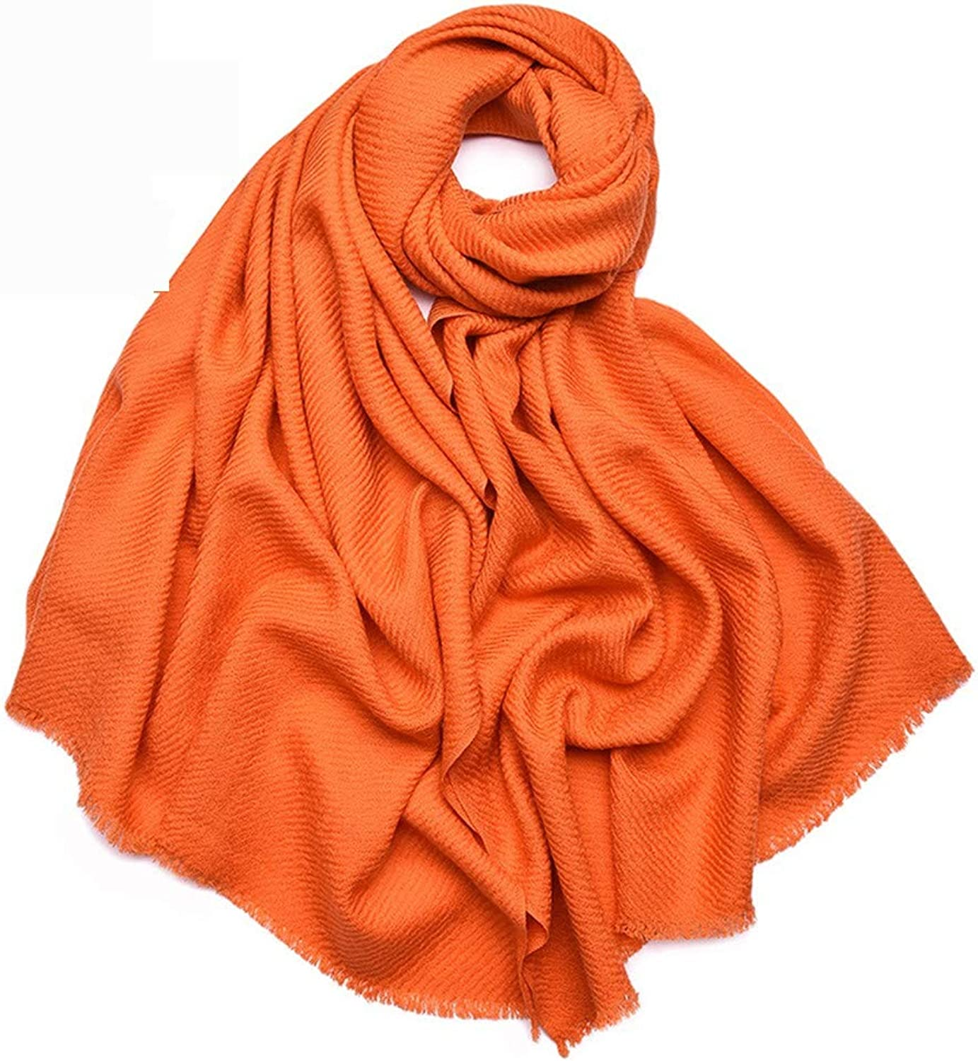 AFBLR shawl cloak Pure wool large twill shawl autumn and winter warm universal scarf, orange