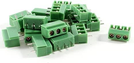 YXQ 20 Pcs 3 Pin 5.08mm Pitch PCB Mount Screw Terminal Block AC 250V 8A