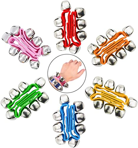 POPLAY Band Wrist Bells, 12 PCS, 6 Colors