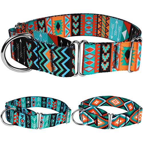 CollarDirect Martingale Dog Collar Nylon Safety Training Tribal Pattern Adjustable Heavy Duty...