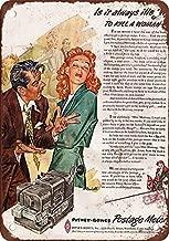 SIGNCHAT 1953 sexistas Pitney-Bowes Postage Meter AD Metal Estaño Sign 8 x 12 Pulgadas