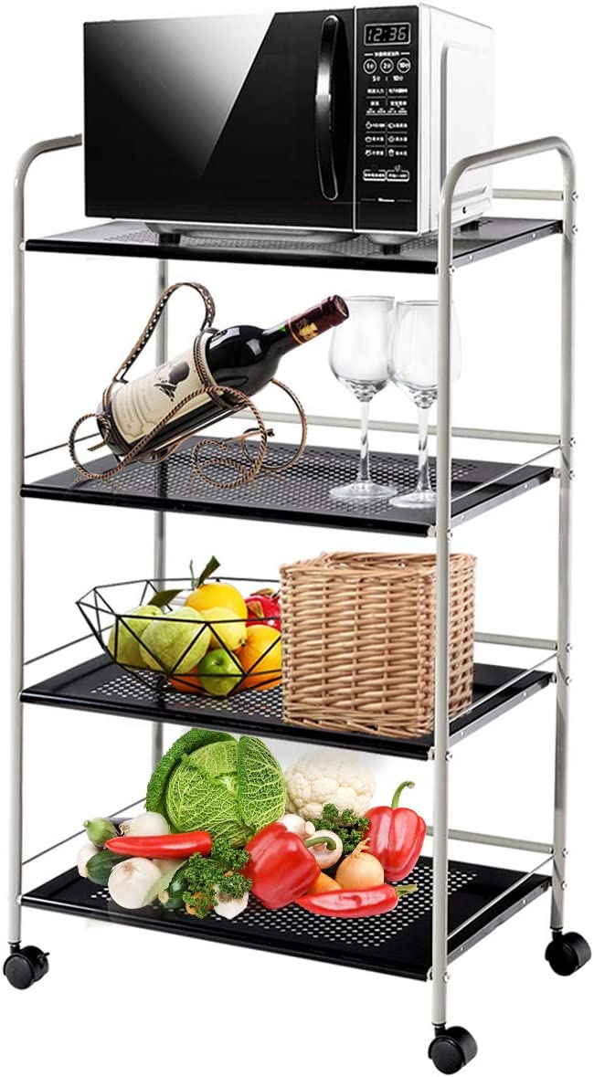 Giantex 2021 Some reservation Standing Baker's Rack Cart Rolling Utility Storage
