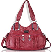 Angel Barcelo Womens Fashion Shoulder Bag (Red)
