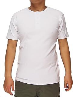 AVIREX[アヴィレックス] デイリー 無地 半袖 ヘンリーネック Tシャツ/6143504-01ホワイト-S
