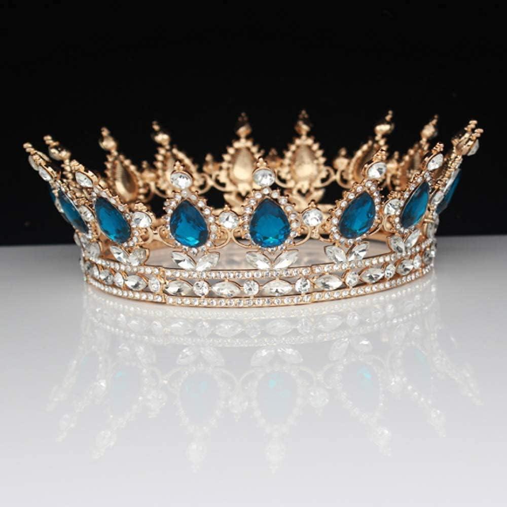 FMOGG Vintage Bridal Tiara Crowns Gold Hair Women Crystal Regular dealer Ranking TOP4 Prom O
