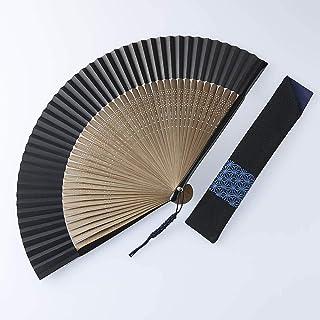 [メンズ]白竹堂 京扇子(脇彩小紋) 木箱入り GF0659(サイズはありません ア:アサノハ)