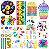 Fidget TIK Tok Fidget Toys Pack Sensory Fidget Toys Push Bubble Pop Toy Stress Anxiety Relief Toys Set (Q2)