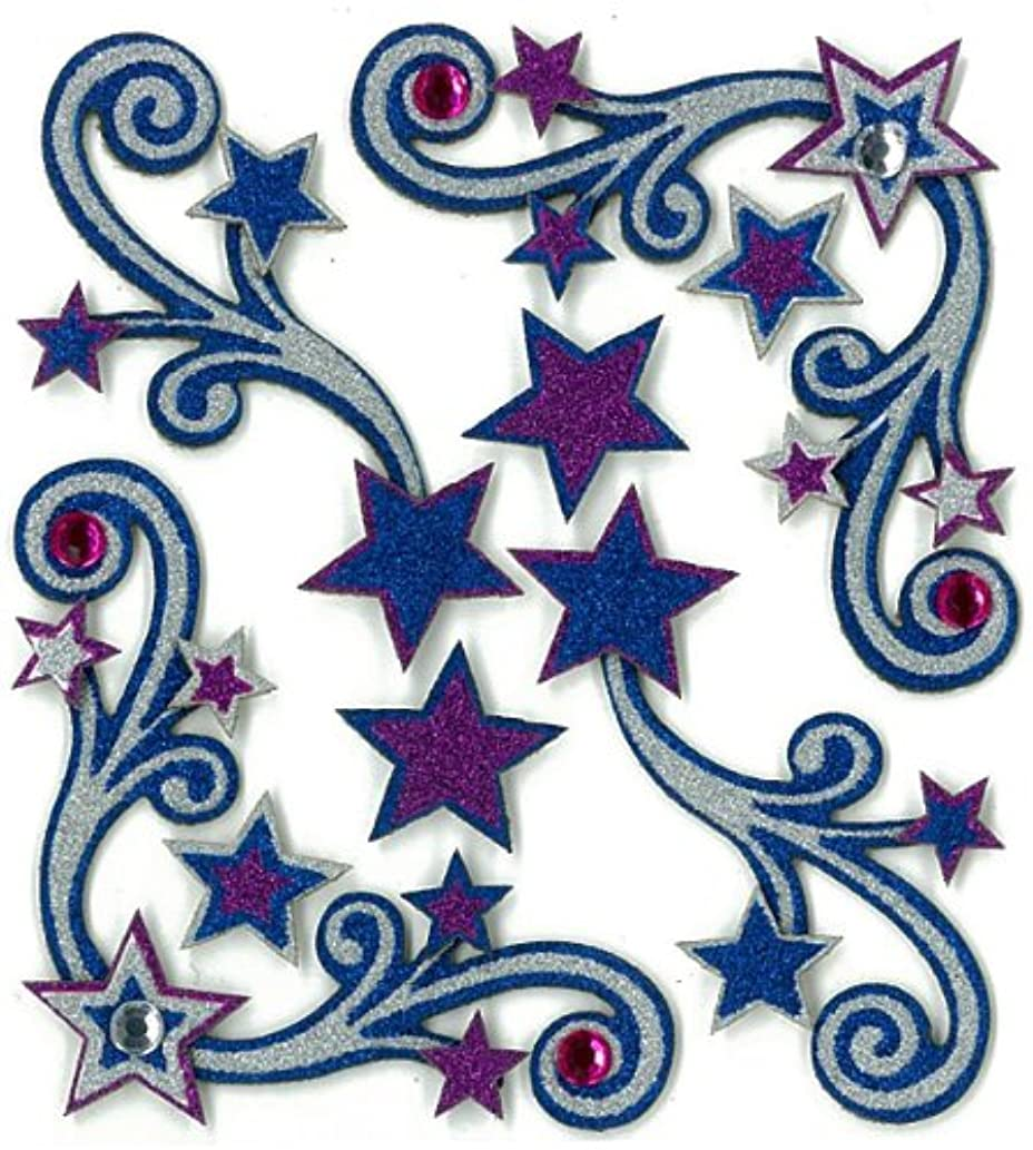 Jolee's Boutique Dimensional Stickers, Star Flourishes