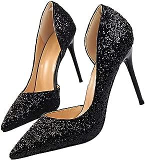 Best black glitter heels Reviews