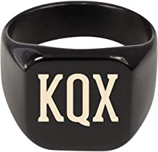 Molandra Products KQX - Adult Initials Stainless Steel Ring