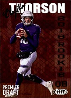 2019 SAGE Hit Premier Draft High Series #104 Clayton Thorson RC Rookie Northwestern Football Trading Card