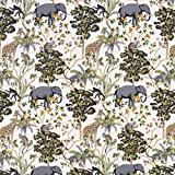 SCHÖNER LEBEN. Baumwolljersey Jersey Safari Elefant
