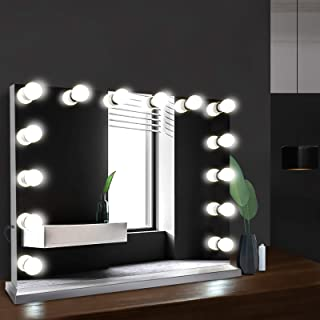 Embellir 65 x 80cm Light Up Makeup Mirror Beauty Stand Up Mirror 14 LED Lighted Mirror for Dressing Table Desk Living Room