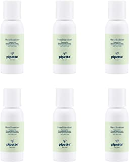 Pipette Hand Sanitizer Gel, 65% Alcohol, Moisturizing, Non-Sticky, No Rinse Plant-Derived (2-oz, 6-pack)