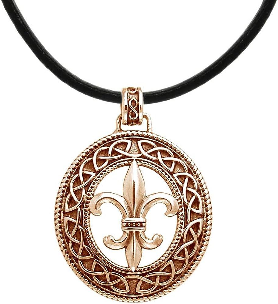 Jewelry Trends Copper Max 46% OFF Fleur De Necklace Celtic Pendant Lis Knot Ranking TOP17