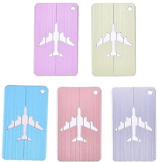 NCONCO 5 unids aleación de aluminio metal equipaje maleta etiqueta dirección identificación identificación tarjeta de viaje