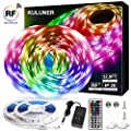 LED Strip Lights, 32.8ft RGB LED Light Strip 5050 LED Tape Lights, Color Changing LED Strip Lights with RFRemote for Home Lighting Kitchen Bed Flexible Strip Lights for Bar Home Decoration