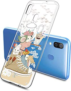 Oihxse Funda Dibujos Animal Lindo Compatible Samsung Galaxy Koi0 Carcasa Transparente Clear Silicona TPU Gel Suave Case Ul...