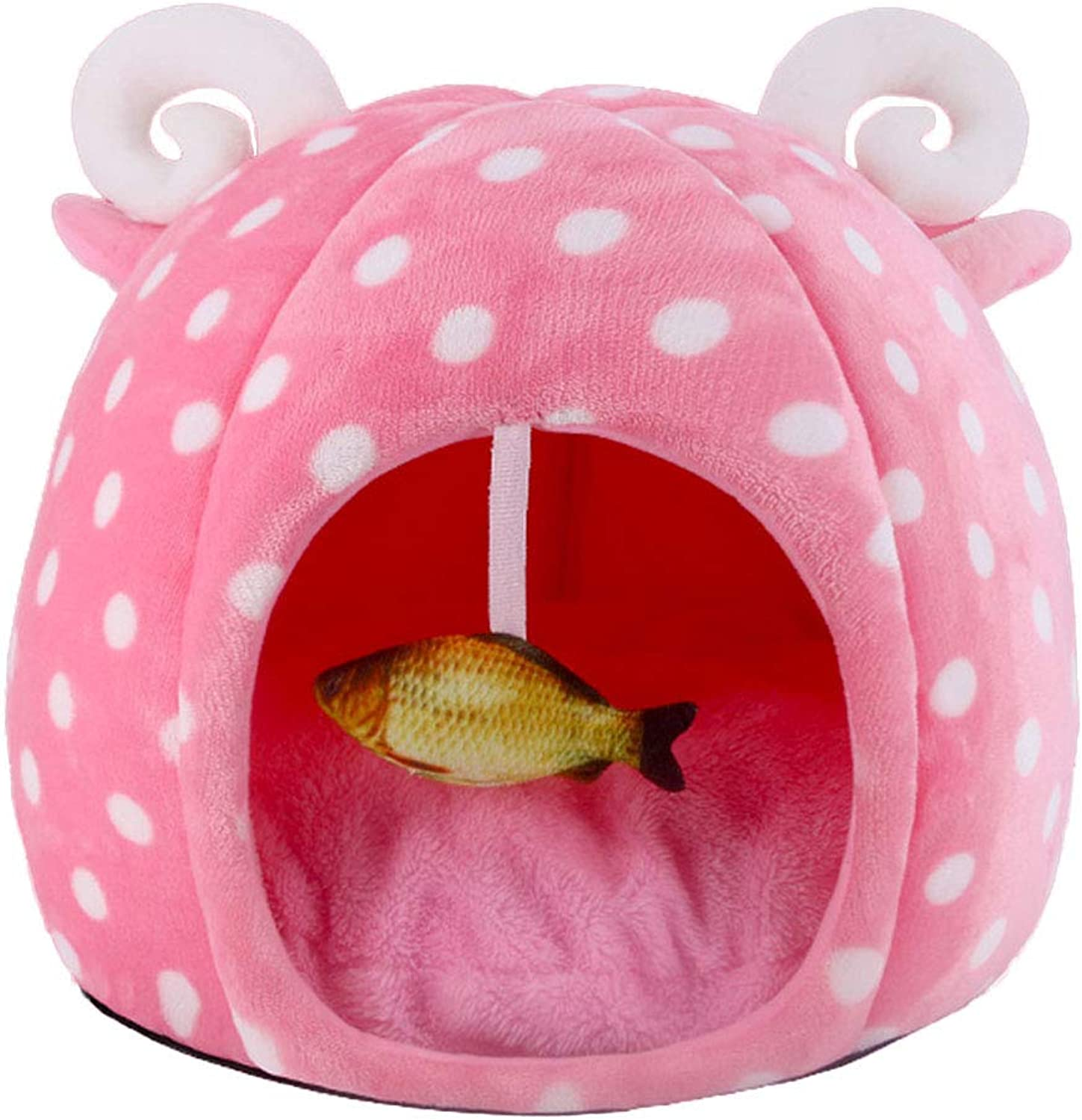 DogHouses Cat Bed Cat House Winter Warm Four Seasons Universal Cat House Dog House Small Dog Kennel Dog Bed Gift (color   Pink, Size   52  48  39cm)