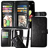 Harryshell LG Stylo 2 Case, Luxury 12 Card Slots Shockproof PU Leather Wallet Flip Protective Case Cover with Wrist Strap for LG Stylo 2 (A-2)