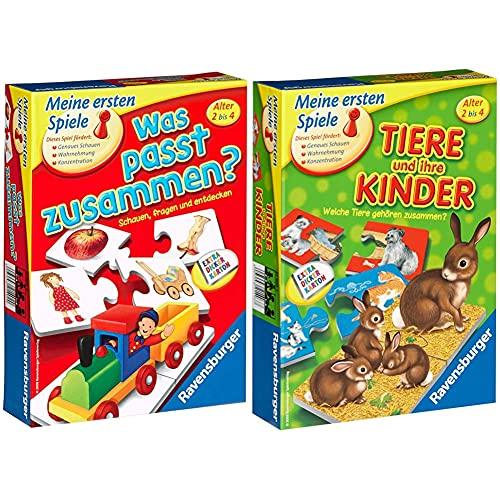 Ravensburger was passt zusammen? - Puzzelspiel für Kinder, Bildpaare zuordnen für 1-4 Spieler ab 2 Jahren & Tiere und ihre Kinder - Kinderspiel, Tierwelt kennenlernen - für 1-4 Spieler ab 2 Jahren