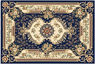 Front Door Mat, European Style Check Rugs, Rubber Non Slip Backing Door Mats, Washable Carpet for Outdoor Front Porch/Kitc...