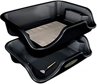 Trim Bin - Black Trimming Tray with Mesh Pollen Sieve Kief Sifter Screen - 2 Laptop Trimmer Trays in 1Pack - Premium Indoo...