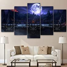 Dxcclf Hd 5 Piece Canvas Printed Room Decor Star War Mortal Kombat Painting Canvas Print Poster Picture Canvas