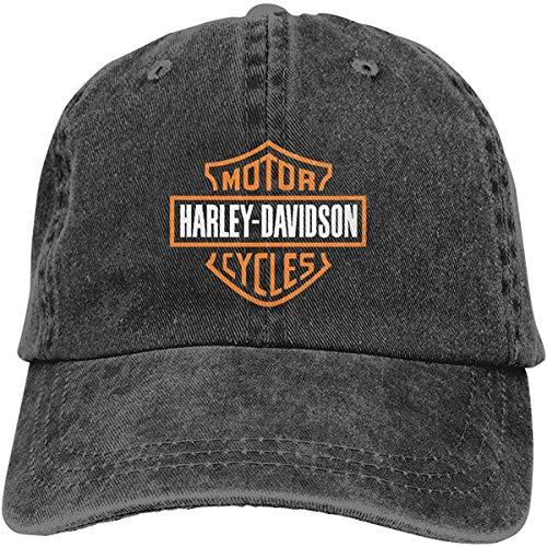 Hangdachang Har-Ley Dav-idson - Cappelli da baseball regolabili in denim, stile retrò, da cowboy, per uomo e donna