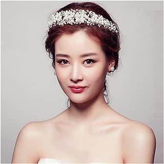 Casualfashion Fantastic Bride Wedding Hair Tiaras Pearl Rhinestone Bridal Princess Crown Headdress Headpiece Jewelry