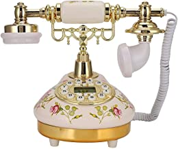 Retro Vintage Antique Telephone,European Old Fashioned Classic Fixed Digital Vintage Telephone with Automatic Detection to... photo