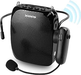 تقویت کننده صوتی ZOWEETEK با هدفون میکروفون بی سیم UHF ، بلندگو قابل شارژ قابل حمل با توان 10W 1800mAh بلندگوی سیستم PA قابل شارژ برای مکانهای مختلف مانند کلاس درس ، جلسات ، تبلیغات و خارج از منزل