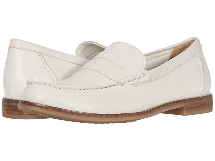80s Shoes, Sneakers, Jelly flats Hush Puppies Wren Loafer PF Ivory Leather Womens Shoes $69.95 AT vintagedancer.com