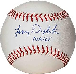 lenny dykstra autographed baseball