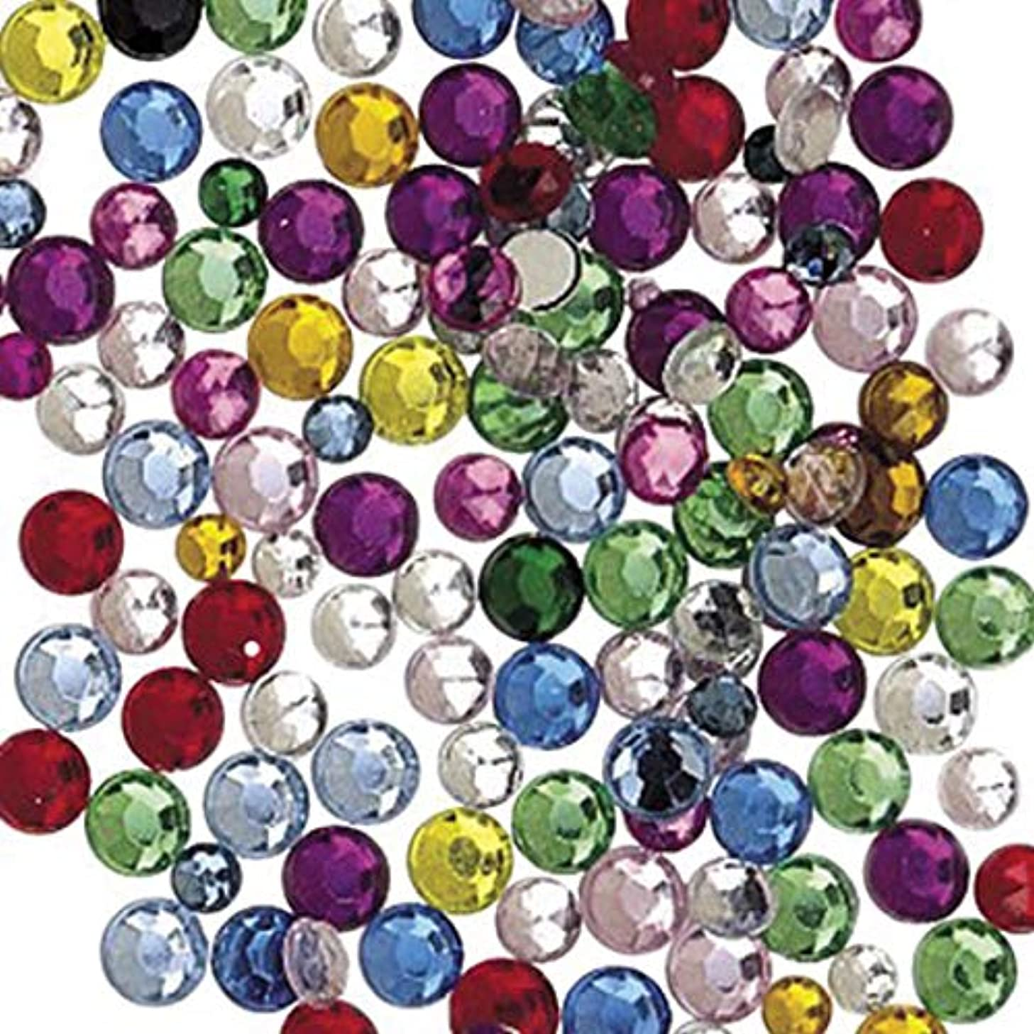 Chenille Kraft AC3572DI Rhinestone, Assorted Shape, Size and Color (Pack of 375)