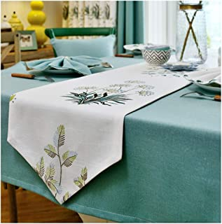 Simplicity Table Runner Coffee Dining Exquisite Craft Fabric Decorations Catering Event Thanksgiving Holiday Spring Outdoor Picnics Rag Placemat (Color : White, Size : 35×180cm)
