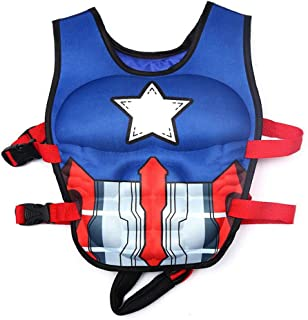 Bellagione Kids Swimming Vest Child Life Jacket Boys Girls Floating Swim Device Learn-to-Swim Aid with Adjustable Safety Strap Medium and Large Size