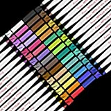 Rotuladores Metálicos,RATEL 30 colores brillantes Marcador Metálico para manualidades de bricolaje, pintura rupestre, álbum de fotos de bricolaje Rotuladores Metalizados para cerámica