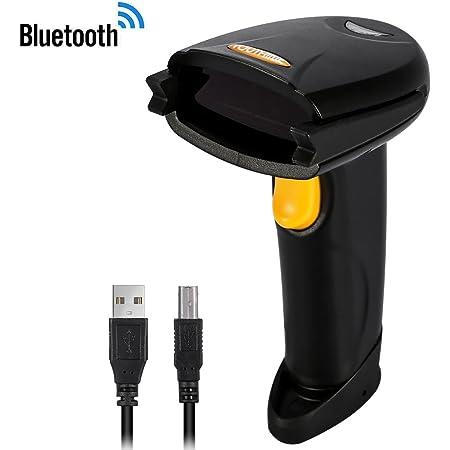 Barcode Scanner,Price Scanner Gun,Bluetooth Wireless Barcode Scanner Automatic Barcode Reader,Handhold Bar Code Scanner with USB Receiver for Store,Supermarket,Warehouse Black