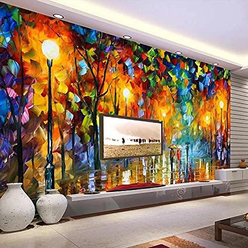 Pintura Al Óleo De La Calle De La Ciudad Europea, Pintura De Pared De Paisaje, Fondo De TV, Decoración Del Hogar, Papel De Pared Impermeable